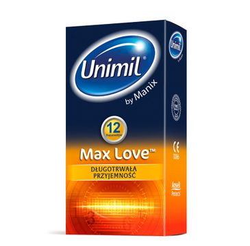 Unimil Max Love lateksowe prezerwatywy 12szt