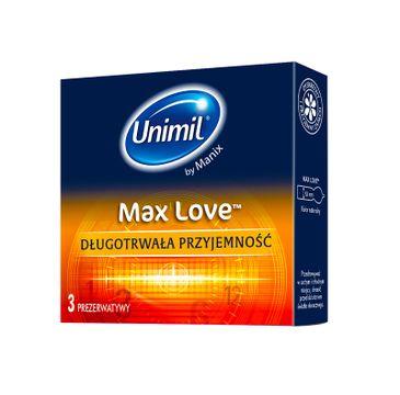 Unimil Max Love lateksowe prezerwatywy 3szt