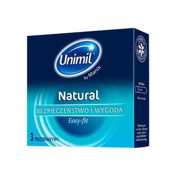 Unimil Natural lateksowe prezerwatywy 3szt