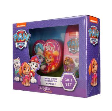Uroda for Kids Zestaw prezentowy Paw Patrol Girl (żel pod prysznic 2w1 250ml+gąbka do mycia)