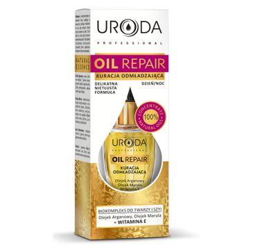Uroda Oil Repair kuracja odmładzająca do twarzy i szyi do cery dojrzałej i wrażliwej 10 ml