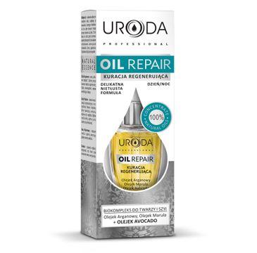 Uroda Oil Repair kuracja regenerująca do twarzy i szyi do skóry suchej i wrażliwej 10 ml