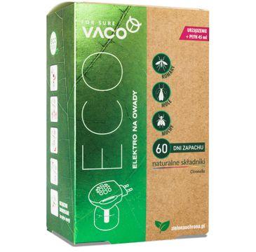 Vaco Elektro + płyn uzupełniający na owady z olejkami eterycznymi Citronella 1szt
