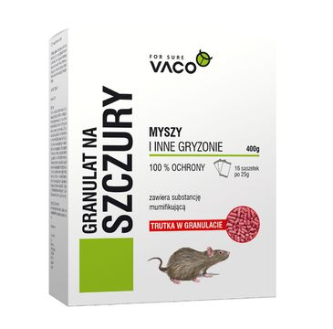 Vaco Granulat na szczury 16x25g