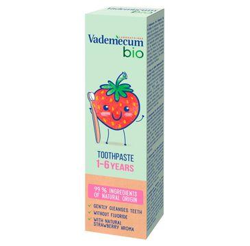 Vademecum – Bio Kids Pasta do zębów dla dzieci 1-6 Strawberry (50 ml)