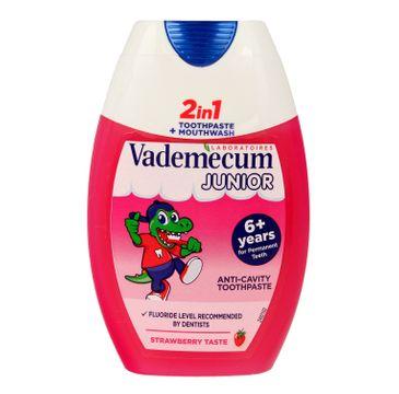 Vademecum Junior 6+ pasta do zębów 2w1 Strawberry 75 ml