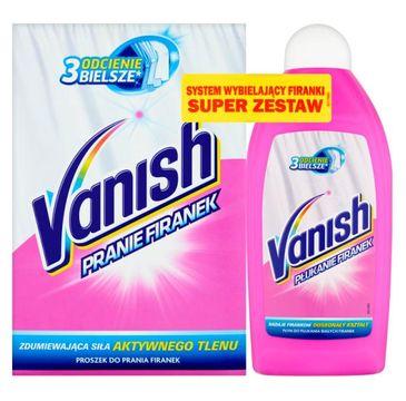 Vanish Zestaw do prania firanek proszek do prania 400g + płyn wybielający 500ml