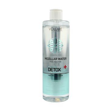 Vollare Cosmetics – Detox Płyn micelarny do demakijażu twarzy i oczu (400 ml)