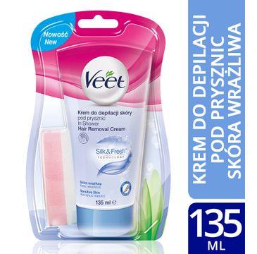 Veet Krem do depilacji pod prysznic dla skóry wrażliwej 135 ml