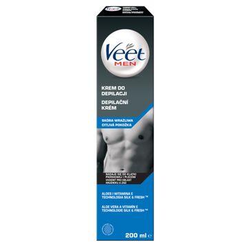 Veet Men krem do depilacji dla mężczyzn skóra wrażliwa (200 ml)