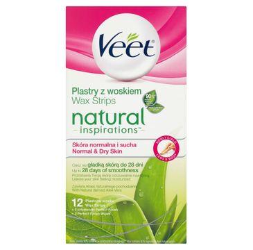 Veet Natural Inspirations Dry Skin plastry z woskiem do depilacji ciała 12szt