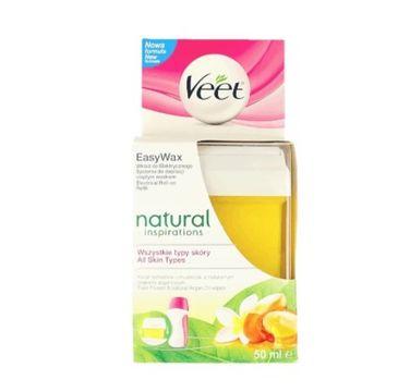 Veet Natural Inspirations wkład roll-on do elektrycznego systemu do depilacji ciepłym woskiem w domu (50 ml)