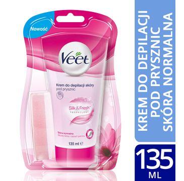Veet Silk & Fresh krem do depilacji skóry pod prysznic skóra normalna 135 ml