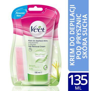 Veet Silk & Fresh krem do depilacji skóry pod prysznic skóra sucha 135 ml