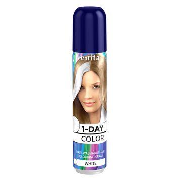 Venita 1-Day Color koloryzuj膮cy spray do w艂os贸w Bia艂y 50ml