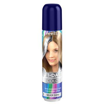 Venita 1-Day Color koloryzuj膮cy spray do w艂os贸w Srebrny Py艂 50ml