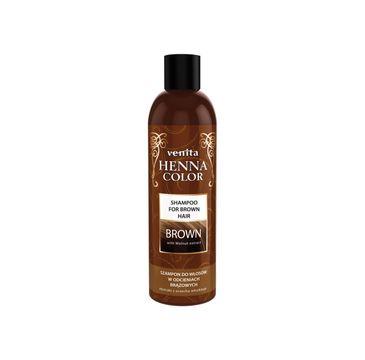 Venita Henna Color Brown szampon ziołowy do włosów w odcieniach brązowych (250 ml)