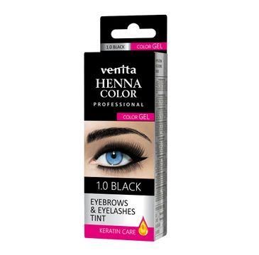 Venita Henna Color Gel żelowa farba do brwi i rzęs 1.0 Black