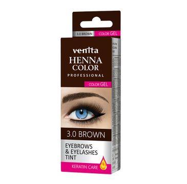 Venita Henna Color Gel żelowa farba do brwi i rzęs 3.0 Brown