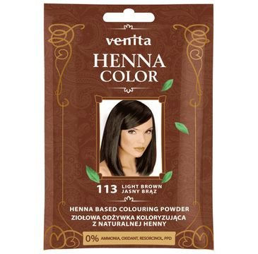 Venita Henna Color ziołowa odżywka koloryzująca z naturalnej henny 113 Jasny Brąz (25 g)