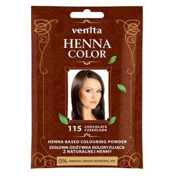Venita Henna Color ziołowa odżywka koloryzująca z naturalnej henny 115 Czekolada