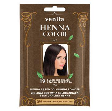 Venita Henna Color ziołowa odżywka koloryzująca z naturalnej henny 19 Czarna Czekolada
