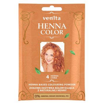 Venita Henna Color ziołowa odżywka koloryzująca z naturalnej henny 4 Henna Chna