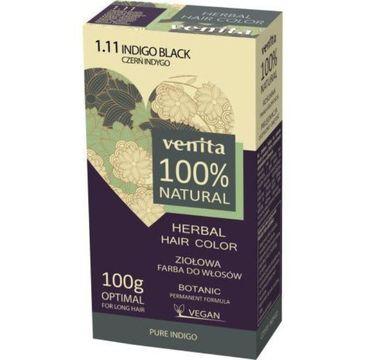 Venita Herbal Hair Color ziołowa farba do włosów 1.11 Czerń Indygo 100g