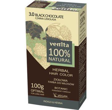 Venita Herbal Hair Color ziołowa farba do włosów 3.0 Czarna Czekolada 100g