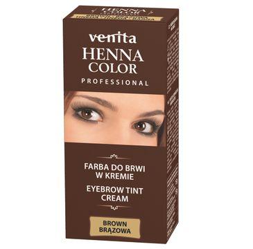 Venita Professional Henna Color farba do brwi w kremie Brąz