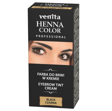 Venita Professional Henna Color farba do brwi w kremie Czarna