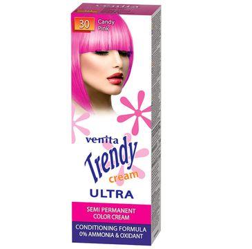 Venita Trendy Cream Ultra krem do koloryzacji włosów 30 Candy Pink