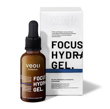 Veoli Botanica Focus Hydration Gel nawilżające serum żelowe z potrójnym kwasem hialuronowym i fermentem z czarnej herbaty kombuchka (30 ml)