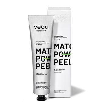 Veoli Botanica Matcha Power Peel multikwasowy peeling enzymatyczny do twarzy (75 ml)