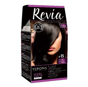 Verona farba do każdego typu włosów nr 15 hebanowa czerń 50 ml