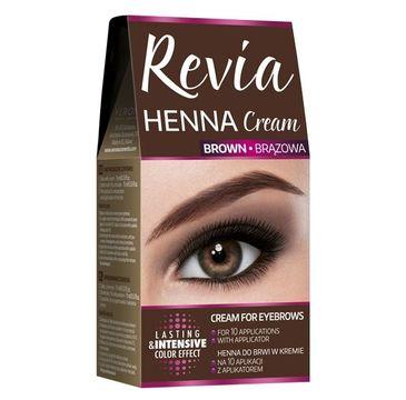 Revia Henna do brwi w kremie Brązowa 15 ml