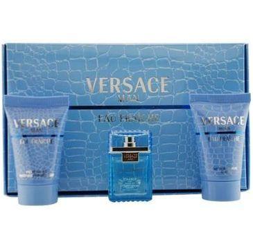 Versace Man Eau Fraiche zestaw woda toaletowa 5ml + żel pod prysznic 25ml + balsam po goleniu 25ml (1 szt.)