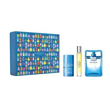 Versace Man Eau Fraiche zestaw woda toaletowa spray 100ml + woda toaletowa spray 10ml + dezodorant sztyft 75ml (1 szt.)