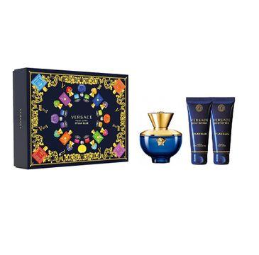 Versace Pour Femme Dylan Blue zestaw woda perfumowana spray 50ml + żel pod prysznic 50ml + balsam do ciała 50ml (1 szt.)