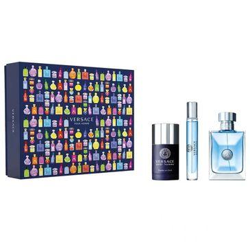 Versace Pour Homme zestaw woda toaletowa spray 100ml + woda toaletowa spray 10ml + dezodorant sztyft 75ml (1 szt.)