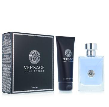 Versace Pour Homme zestaw woda toaletowa spray 100ml + żel pod prysznic 100ml