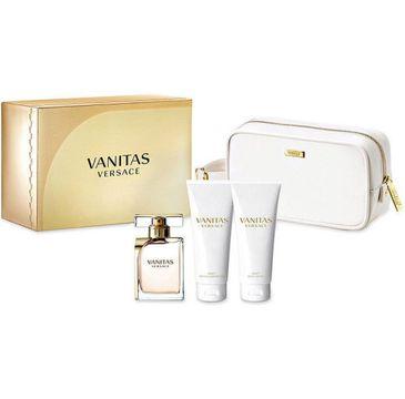 Versace Vanitas zestaw woda perfumowana spray 100ml + balsam do ciała 100ml + żel pod prysznic 100ml + kosmetyczka (1 szt.)
