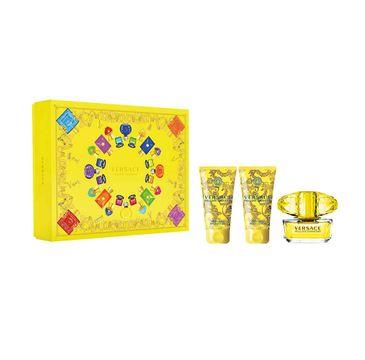 Versace Yellow Diamond zestaw woda toaletowa spray 50ml + żel pod prysznic 50ml + balsam do ciała 50ml (1 szt.)