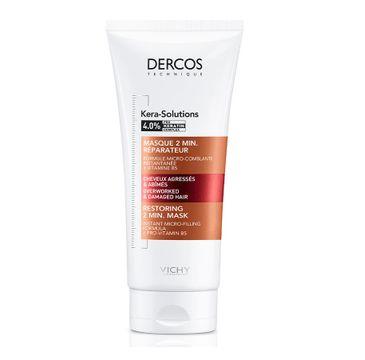 Vichy Dercos Kera-Solutions 2-minutowa maska odbudowująca do włosów suchych i zniszczonych (200 ml)