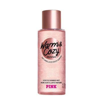 Victoria's Secret Pink Warm & Cozy Shimmer mgiełka do ciała z brokatem (250 ml)