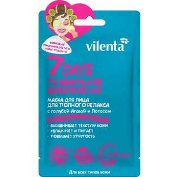 Vilenta – Maska do twarzy Perfect Sunday z agawą i lotosem (28 g)