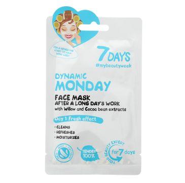 Vilenta – 7 days Energiczny poniedziałek Maseczka do twarzy z wierzbą oraz ziarnami kakaowymi (28 ml)
