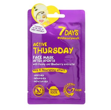 Vilenta – Maska do twarzy Active Thursday z piwonią i jagodami (28 g)