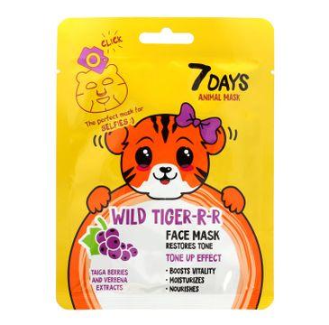 Vilenta – Maska do twarzy Wild Tiger z jagodami tajgi i werbeną (28 g)