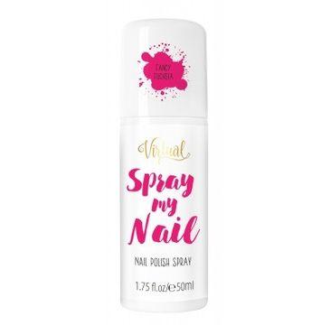 Virtual Spray My Nail Lakier do paznokci w sprayu Fancy Fuchsia 50 ml
